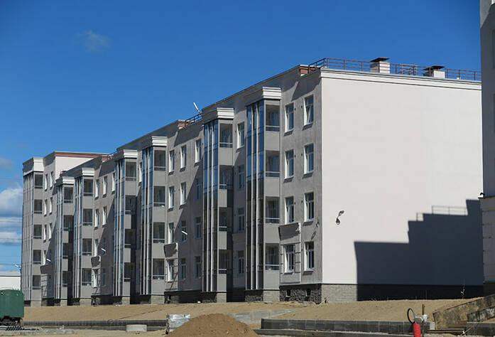 Малоэтажный ЖК «Новое Сертолово»: общий вид корпуса 1 первой очереди