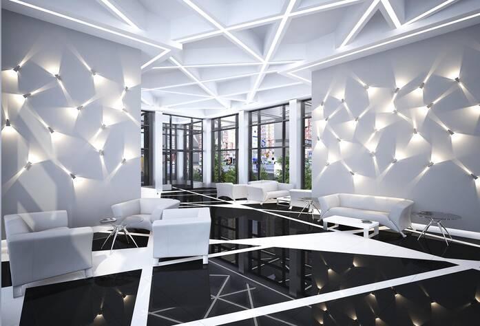 ЖК «Bau Haus» (визуализация, дизайн общественных холлов)