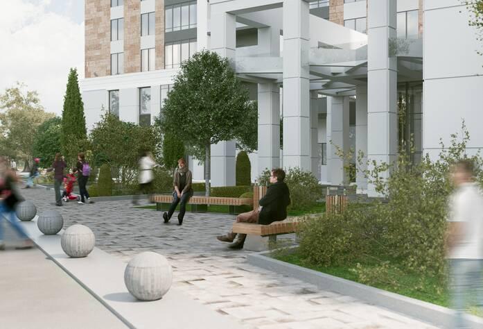 ЖК «Bau Haus» (визуализация, внутренний двор)