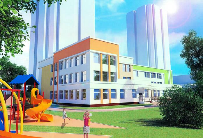 ЖК «Миллениум»: детский сад от застройщика на соседнем участке (визуализация)