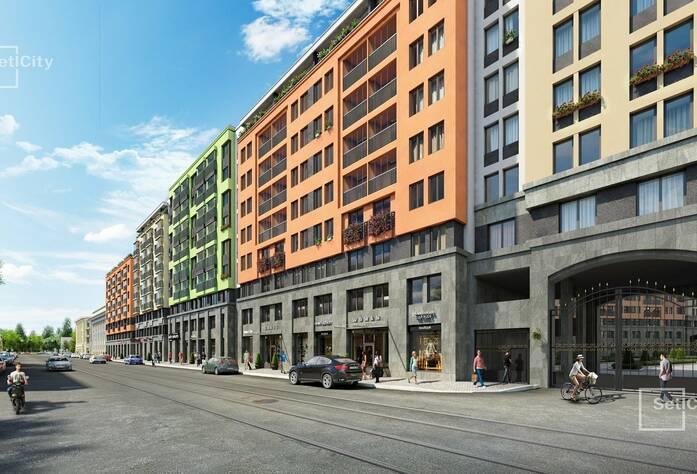ЖК «Палацио»: фасад со стороны Косой линии (визуализация)
