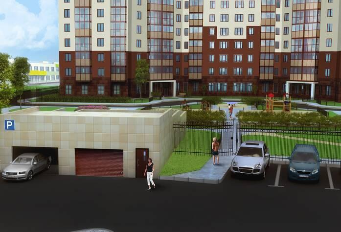 Жилой комплекс «Миллениум»: вид на паркинг (визуализация)
