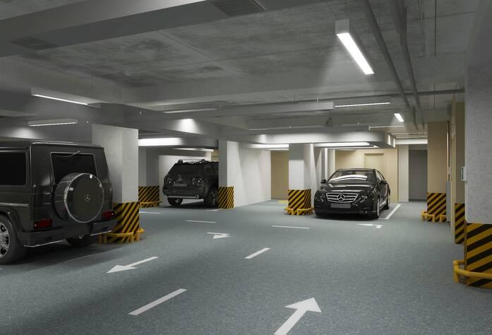 ЖК «Дом у Каретного моста» (визуализация, паркинг)