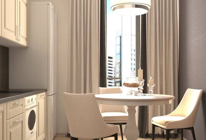 ЖК «Энфилд»: визуализация кухни(классический стиль)