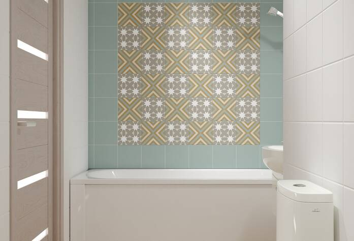 ЖК «Энфилд»: визуализация ванной(скандинавский стиль)
