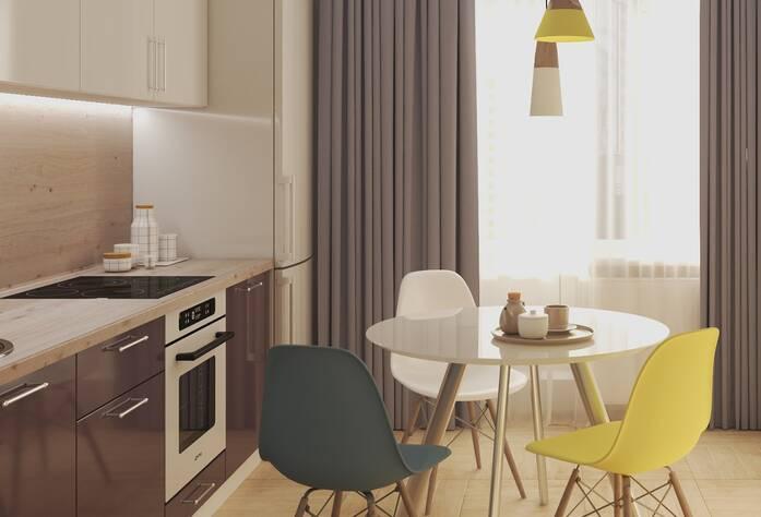 ЖК «Энфилд»: визуализация кухни(скандинавский стиль)