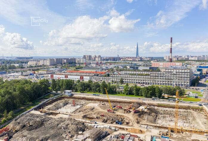 МФК «ArtLine в Приморском»: ход строительства дома №1