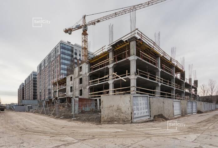 ЖК «Философия на Московской»: ход строительства наземной парковки