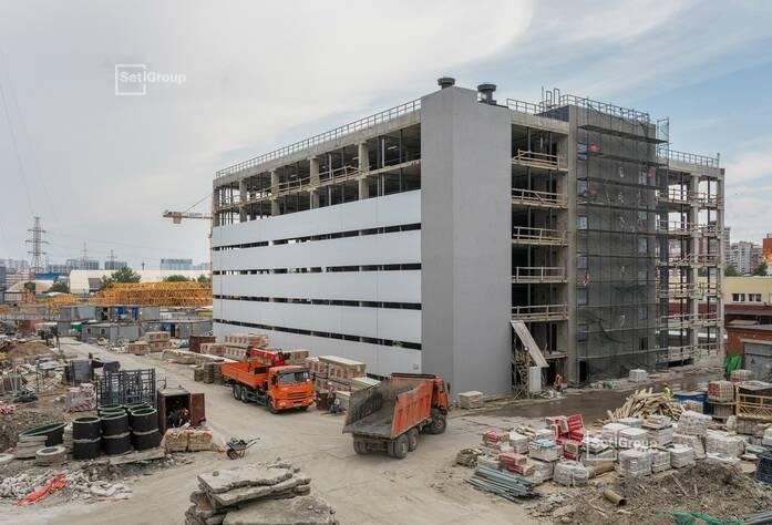МФК «ArtLine в Приморском»: ход строительства (надземный паркинг)