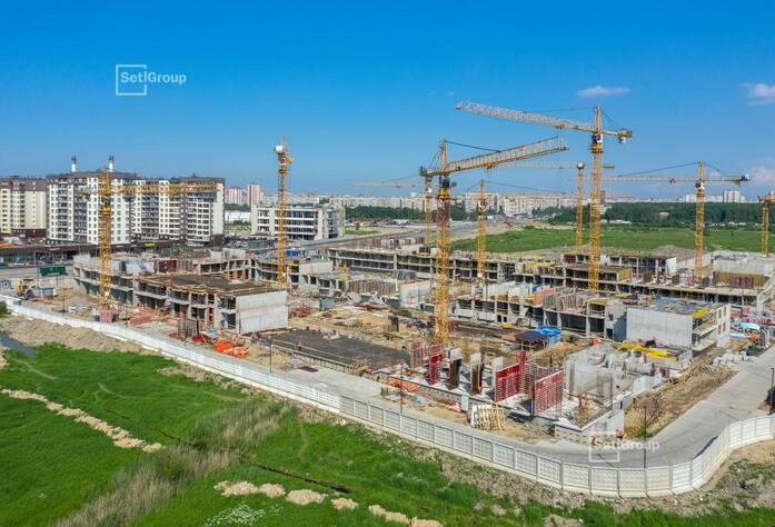 МЖК «Солнечный город Резиденции»: ход строительства корп. № 1.1-1.2