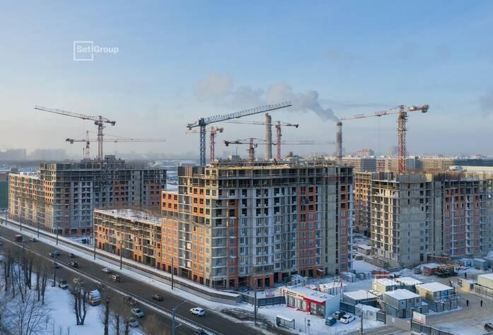 ЖК «Панорама парк Сосновка»:  ход строительства корп. 1