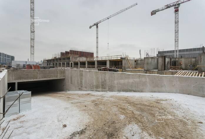 Завершены работы по устройству монолитных конструкций технического этажа.