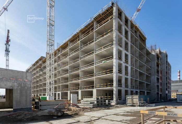 Завершены работы по устройству монолитных конструкций 5-7 этажей.
