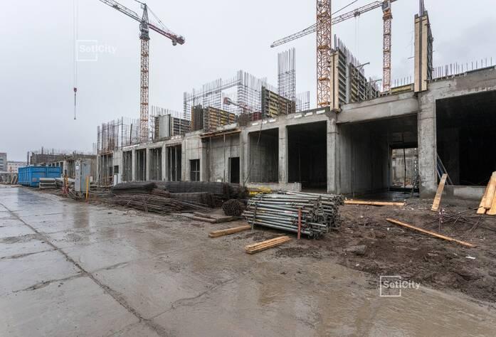 Завершены работы по армированию и бетонированию перекрытий цокольного этажа.