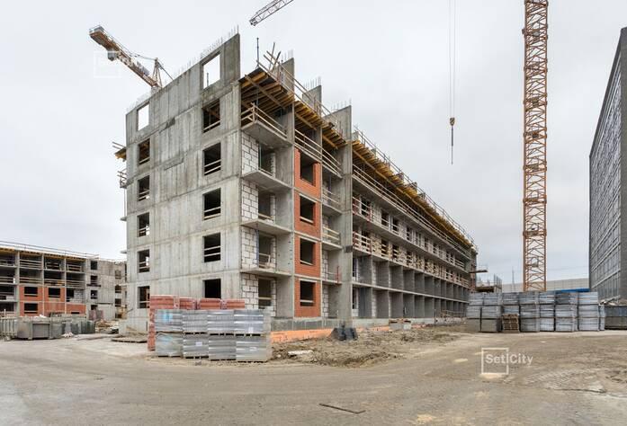 Закончены работы по монтажу стен 5 этажа.