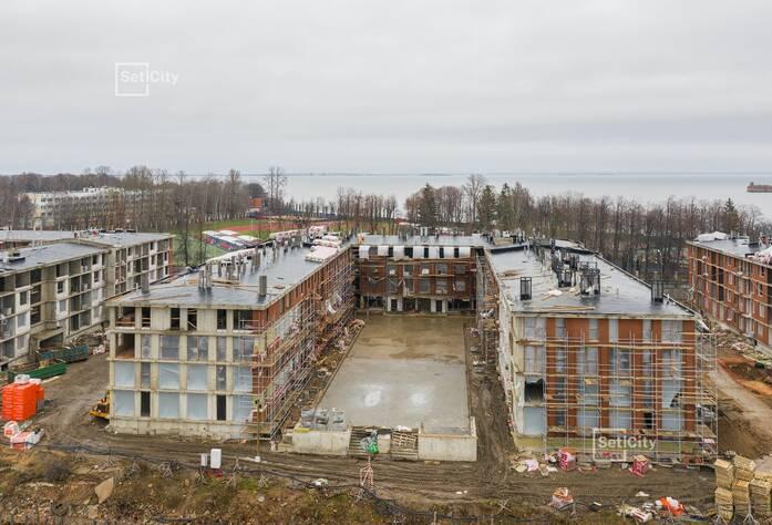 Выполнены работы по устройству внутренних стен, перегородок и наружных газобетонных стен.