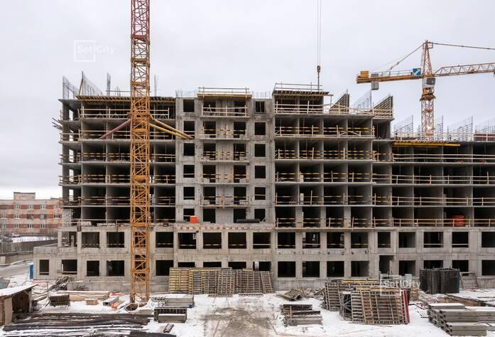 Завершены работы по устройству 6-7 этажей.
