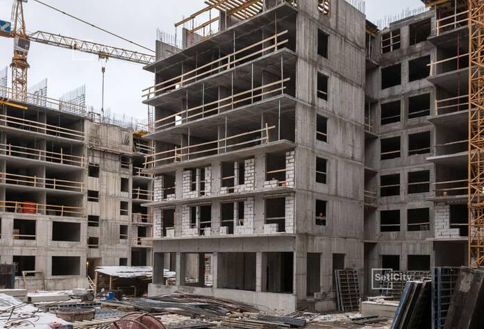 Завершены работы по устройству 6-8 этажей.