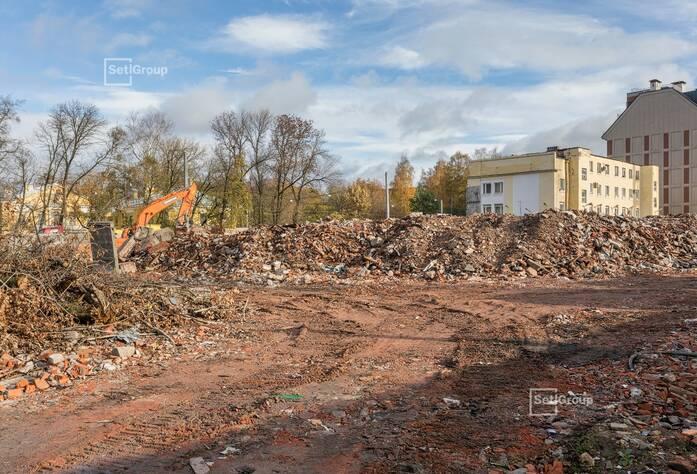 Выполнены работы по демонтажу наземной части зданий и сооружений.