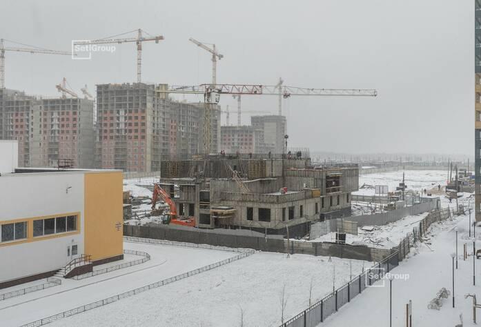 Завершены работы по устройству монолитных стен и плит перекрытий 1 и 2 этажей.