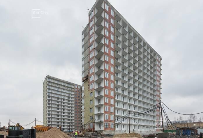 Завершены штукатурные работы в квартирах и МОП на уровне 15 этажа.