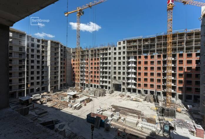 Завершено бетонирование стен и перекрытий на уровне 9 этажа.