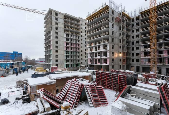 Завершены работы по устройству 8 и 9 этажей.