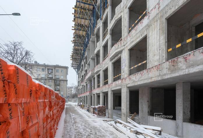 Завершены работы по устройству парапетов 7 этажа.