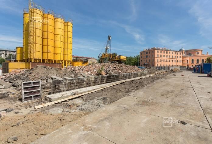 Завершены работы по устройству временного электроснабжения строительной площадки на период строительства.