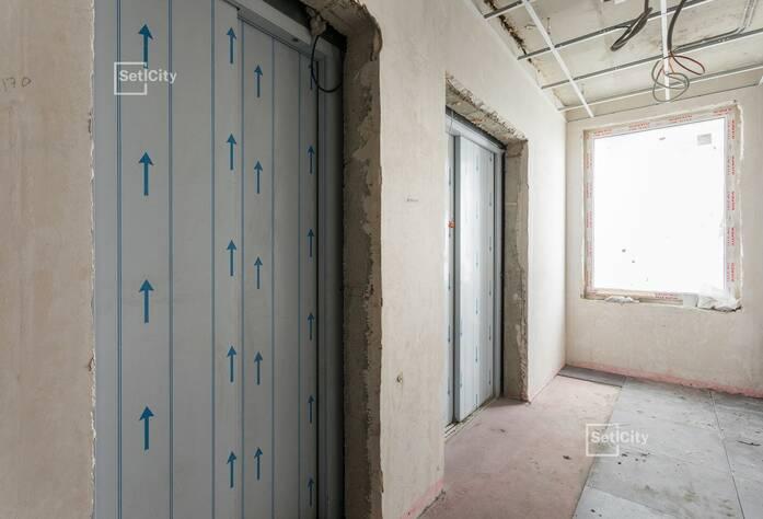 На 92% выполнены работы по горизонтальной разводке систем водоснабжения, канализации, отопления и вентиляции в подвале.