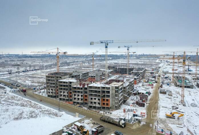 Продолжаются работы по устройству железобетонных конструкций 5-7 этажей.