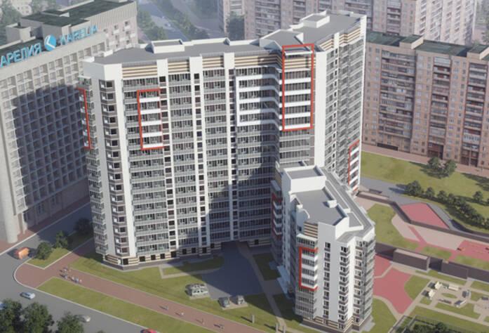 ЖК «Дом на Тухачевского» вид сверху