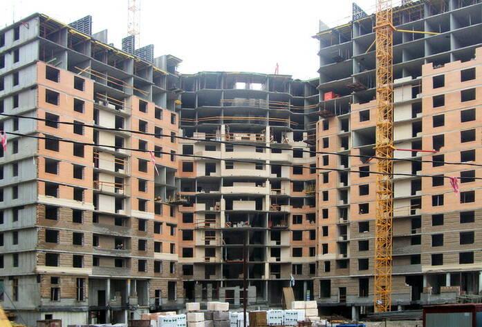 Строительство ЖК «Академ-Парк» (август 2011г.)