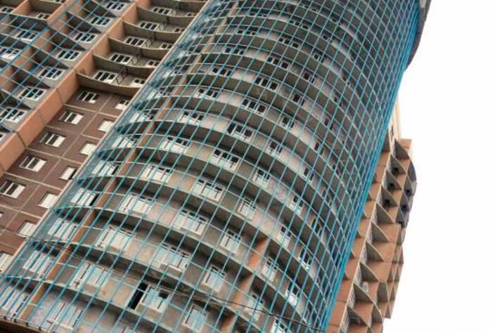 <p>Фрагмент фасада жилого комплекса &laquo;Юнтоловская перспектива&raquo;</p>