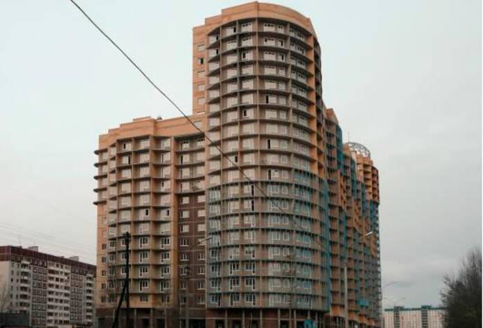 <p>Фасад жилого комплекса &laquo;Юнтоловская перспектива &raquo; с западной стороны</p>