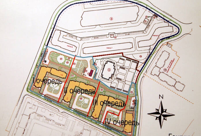 Генеральный план строительства жилого комплекса «Эланд»