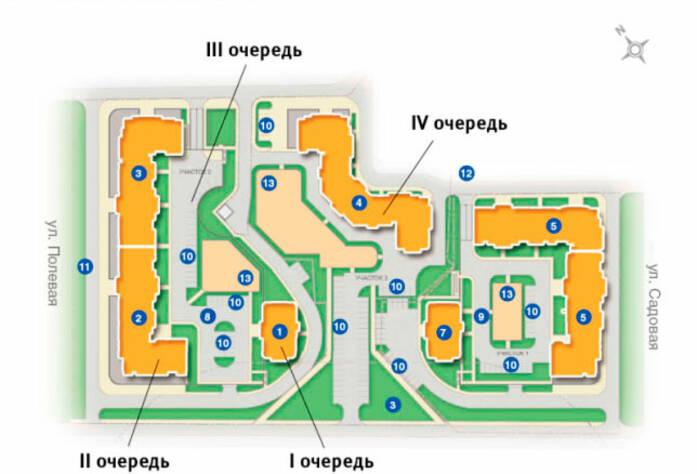 План застройки жилого комплекса «Ижора Парк»
