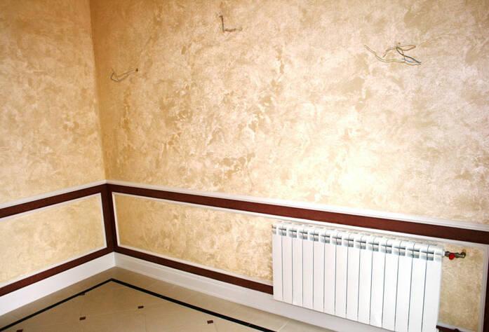 <p>Смонтированы радиаторы, подготовлены места под установку светильников</p>