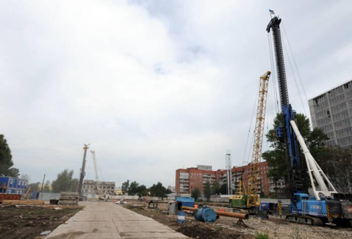 Стройплощадка жилого комплекса «Новомосковский»