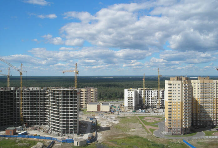 <p>Вид из окон жилого комплекса «Лахта»</p>