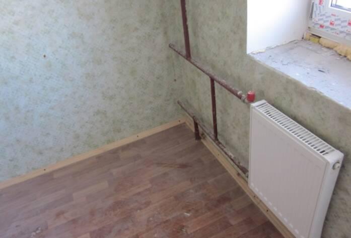 <p>В доме запущено отопление</p>