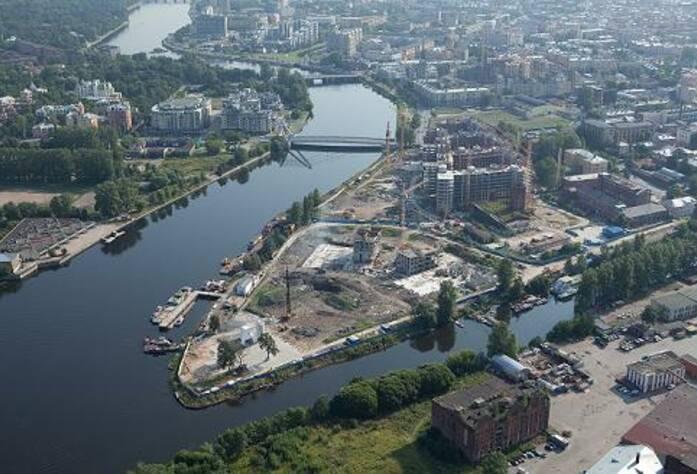 Место строительства ЖК «Леонтьевский мыс»