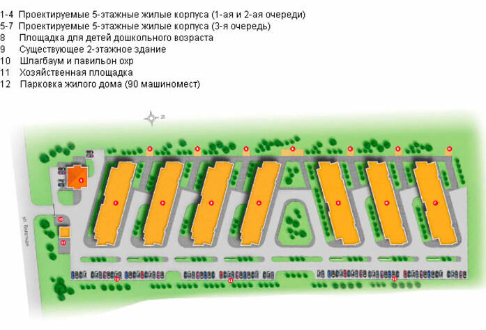 <p>План застройки жилого комплекса во Всеволожске</p>