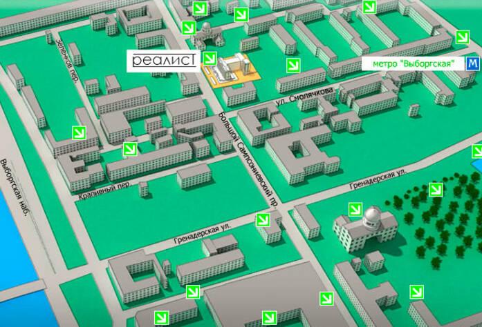 <p>Месторасположение жилого комплекса &laquo;Реалист&raquo;</p>