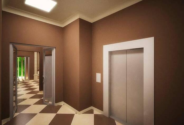 <p>Проект интерьера лифтовой жилого дома на Арсенальной</p>